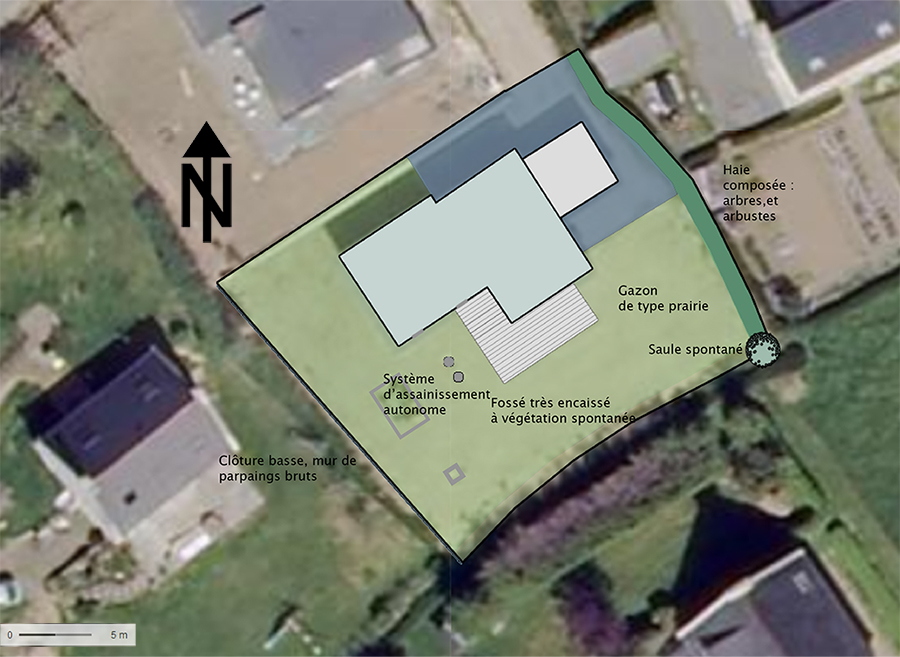 Plan initial du jardin