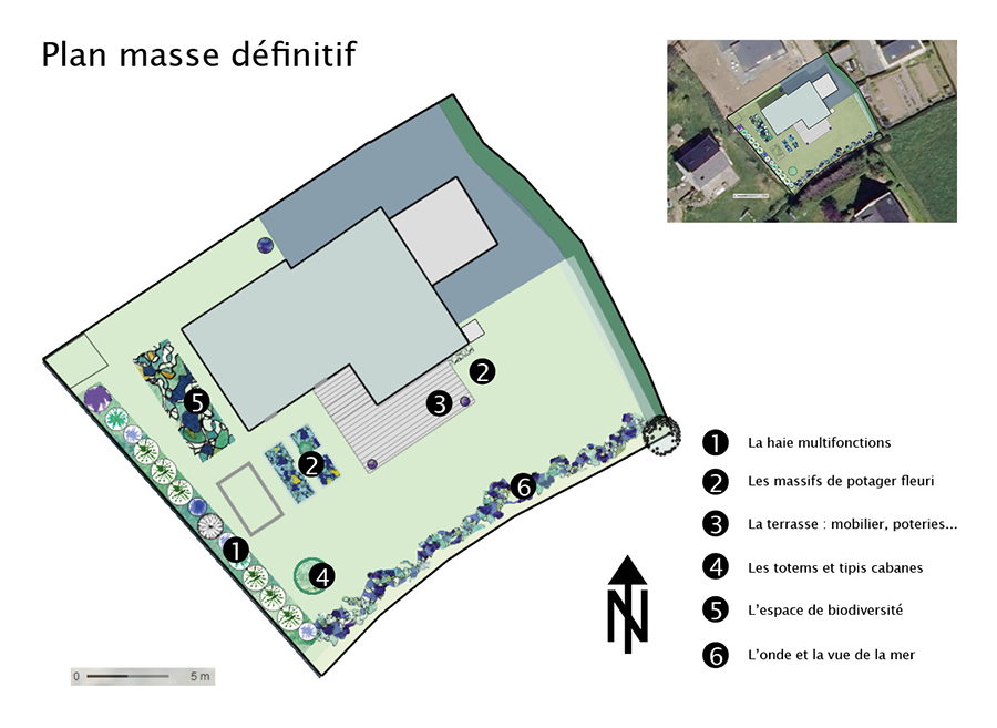 Plan masse du jardin