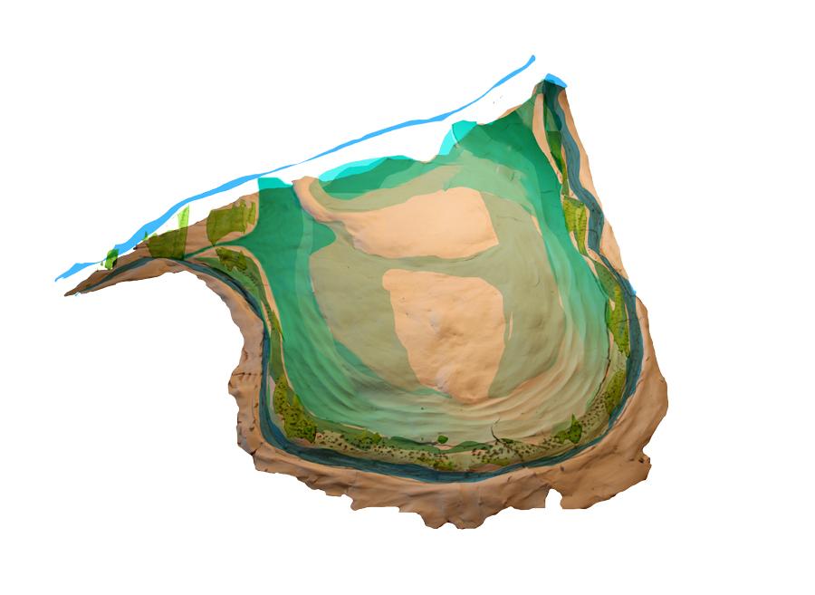 Etape 4 : Semis des zones humides qui joueront un rôle tampon en cas d'inondations des rives