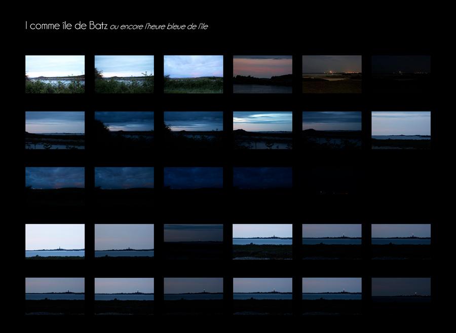 Travail de photographie à prise lente pour saisir la nuit qui tombe sur Batz