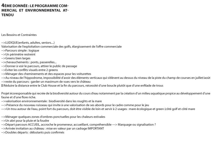 Programme commercial et environnemental