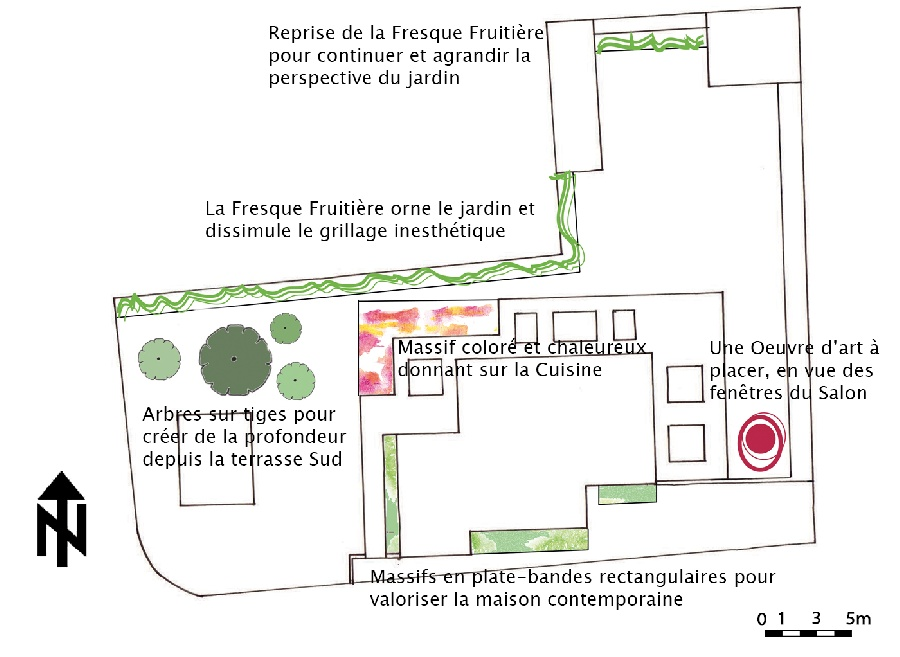 Option 1 : La Fresque Fruitière - Plan masse