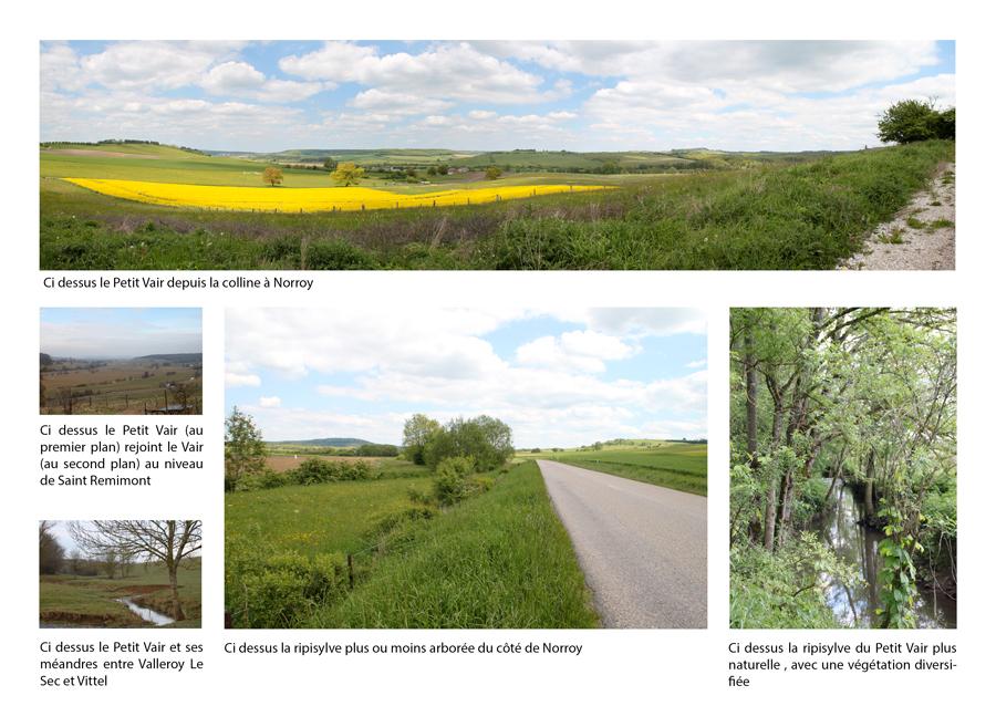Description des paysages existants autour du Petit Vair à une large échelle