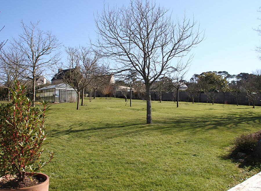 Panorama initial du jardin en Presqu'île de Crozon