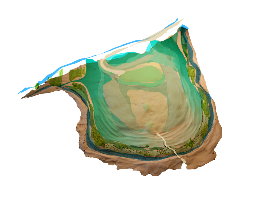 Etape 7 : Mise en place d'une passerelle au dessus du Petit Vair et du ruisseau des Thermes qui dessert le trou 5