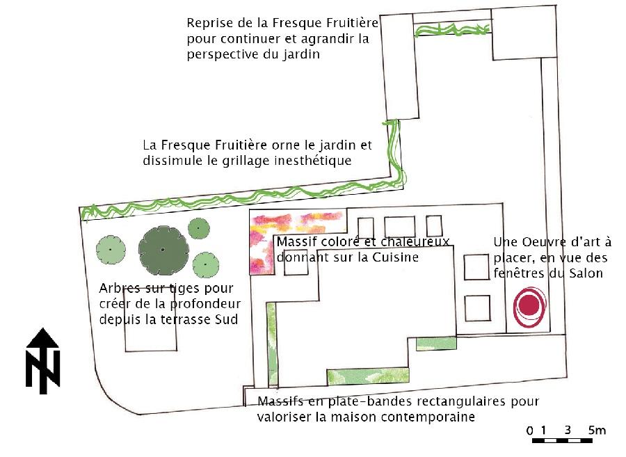Option 1 : La Fresque Fruitière - Plan masse