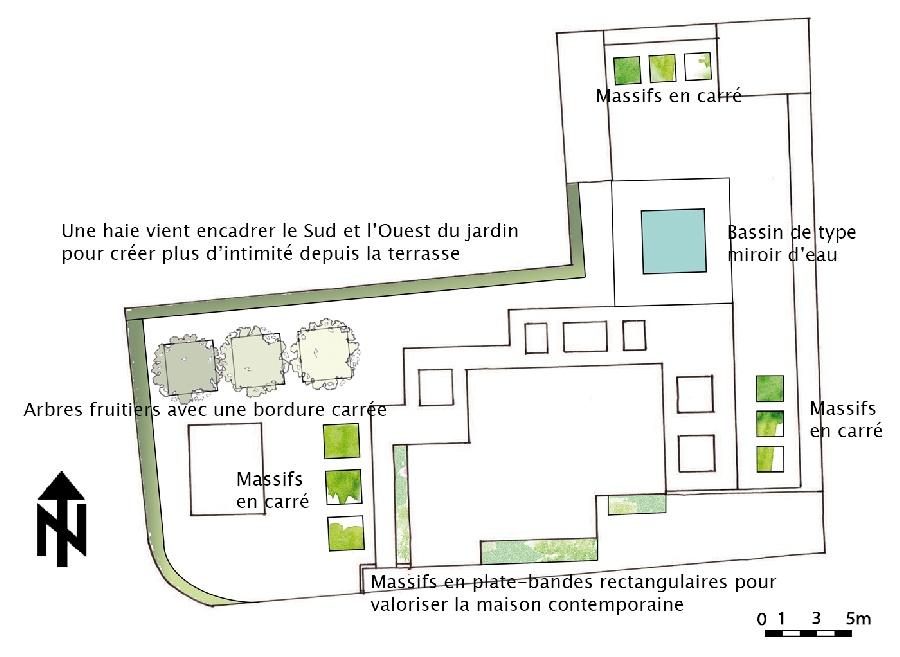 Option 2 : Le Jardin de Carrés - Plan masse