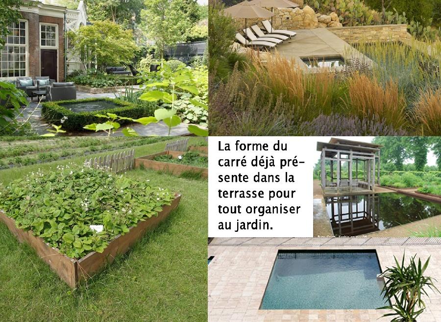 Option 2 : Le Jardin de Carrés - Ambiance et références