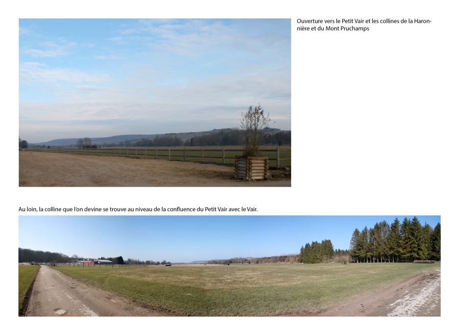Description des vues lointaines perçues depuis les espaces du futur parcours de golf