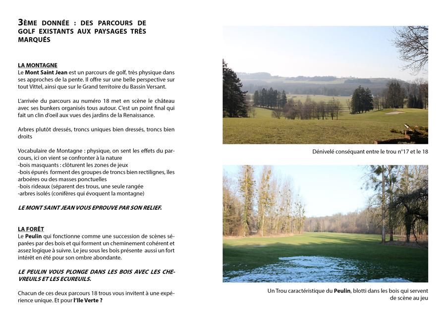 Analyse comparative de l'ambiance des deux parcours existants : Le Mont Saint-Jean et le Peulin