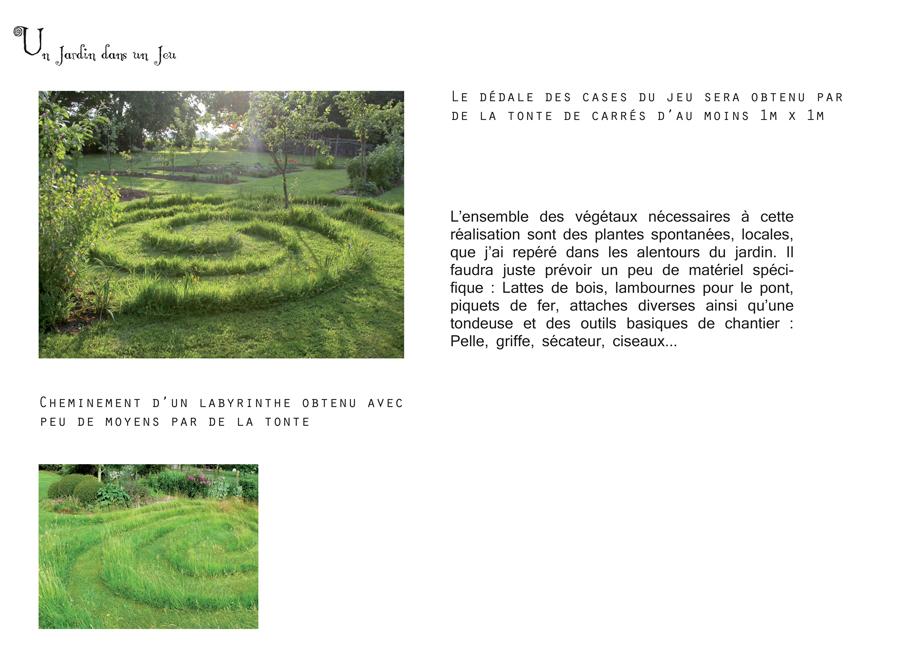 Un jardin dans un jeu, détails techniques de végétation