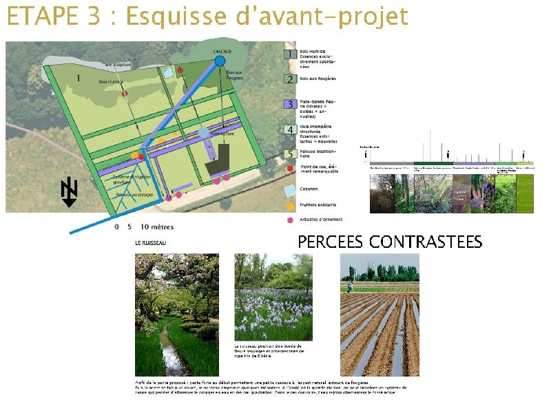 Etape 3 : avant-projet avec 1 des esquisses proposées